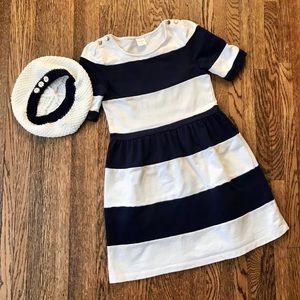 Gymboree Navy & White Nautical Striped Dress